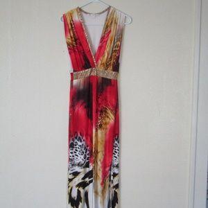 Boston Proper Animal Print Maxi Dress, S
